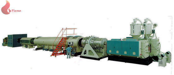 High Speed Pipe Extrusion Line / pe extrusion machine with reducer