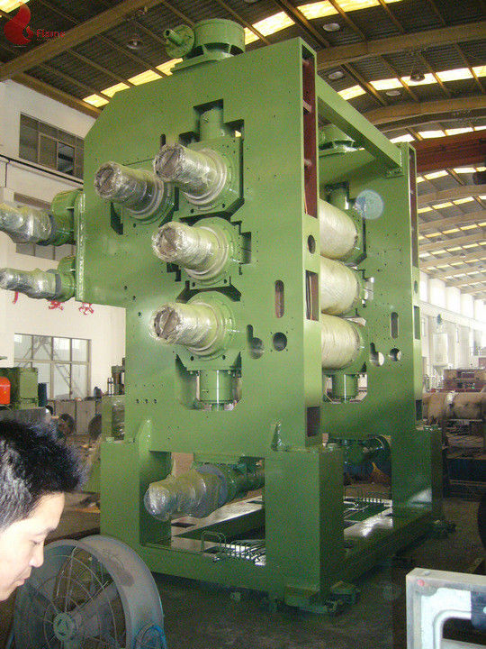 4 Roll Soft PVC Calender Machine Oil Heating Width 1500mm - 2400mm